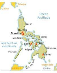 Map of Philippines.