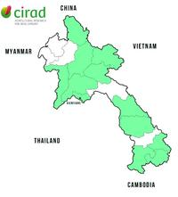 Laos projects map